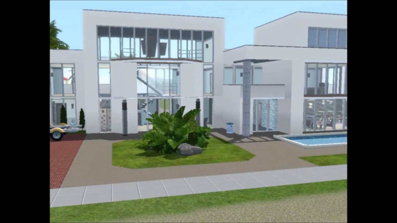 Beau The Sims 3   Island Paradise   Building A Modern House   Modern Vacation  *WITH DOWNLOAD*   YouTube