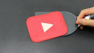 Popular unboxing video created by TigerTomato: Pancake Art - YouTube Play Button by Tiger Tomato