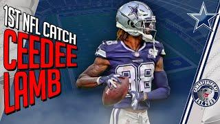 CeeDee Lamb 1st Career Catch vs LA Rams | CeeDee Lamb Debut