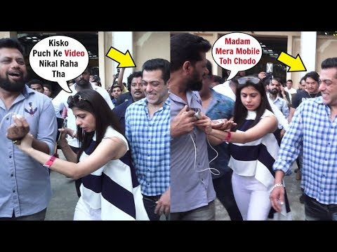 Salman Khan Manager Sh0cking Behaviour With A Reporter At Bigg Boss 13 Launch