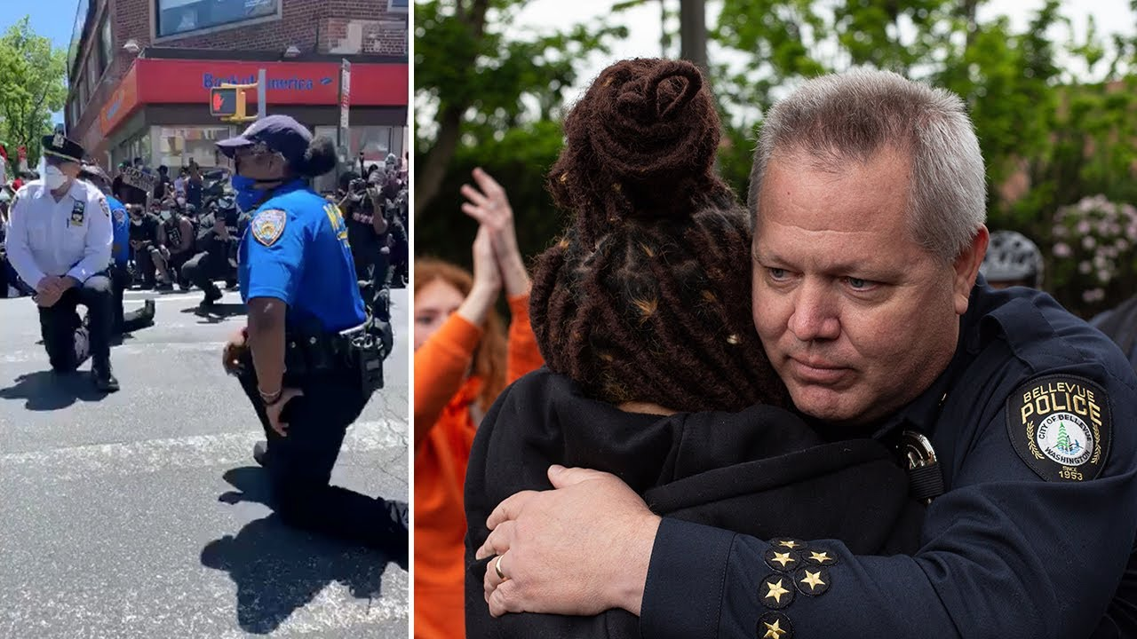 US police show signs of solidarity with demonstrators| George Floyd protests