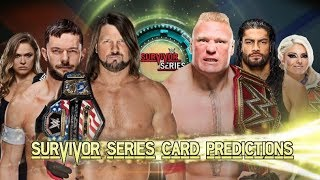 Survivor Series 2017 - Card Prédictions