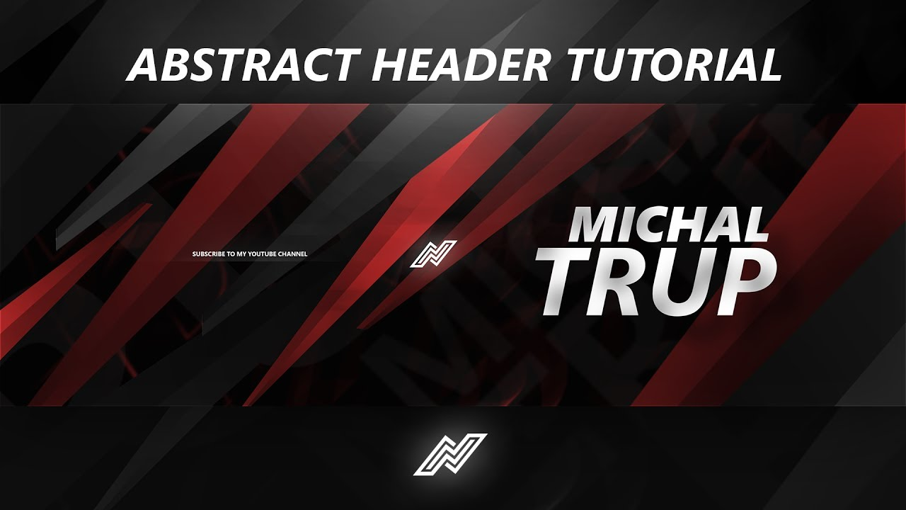 Tutorial How To Make A Sick Abstract Header Free Psd