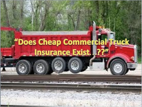 """Does Cheap Commercial Truck Insurance Exist??"""