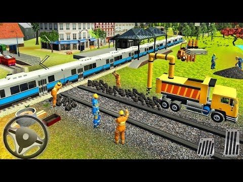 Building Train Station with Trucks - Kids Game |