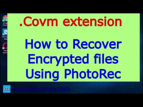 .Covm Extension. How To Recover .Covm Files Using PhotoRec.