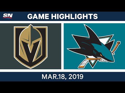 NHL Game Highlights | Golden Knights vs. Sharks - March 18, 2019