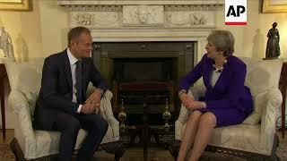 Interior shots as EU chief meets May at 10 Downing Street