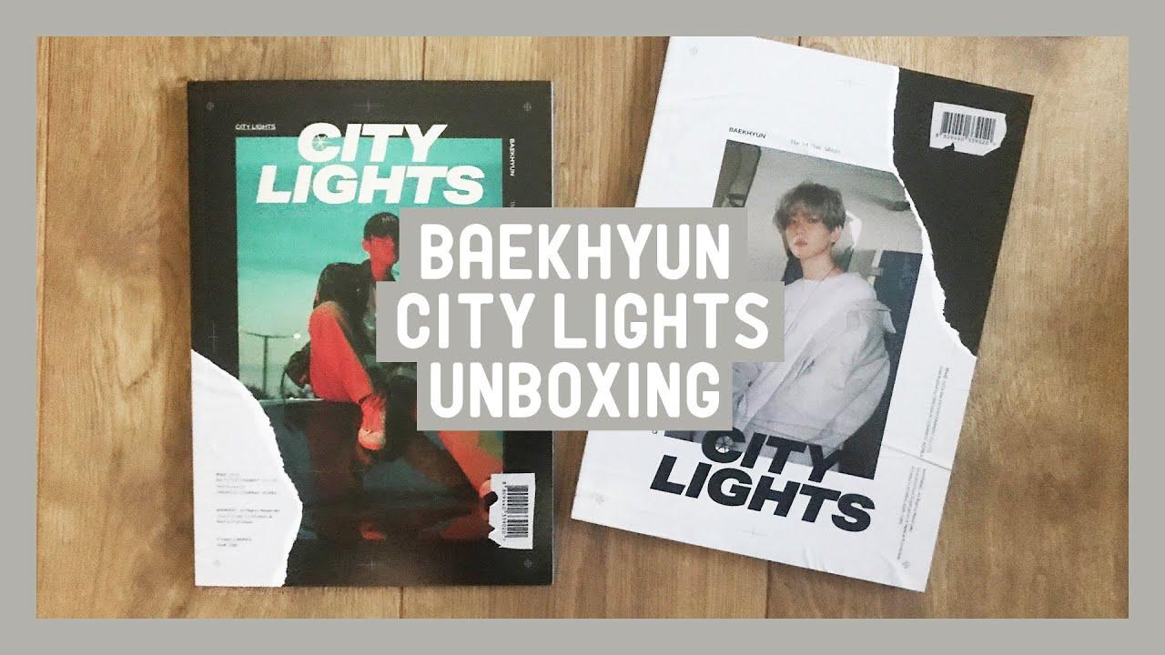 Unboxing 백현 Baekhyun City Lights Album Day And Night
