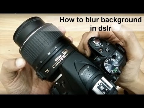 how to blur background in Nikon D5300 with kit lens