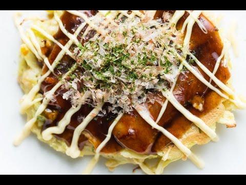Simple Recipe for Homemade Okonomiyaki | SAM THE COOKING GUY