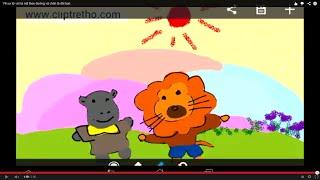 Vẽ sư tử và hà mã theo đường và chân là đôi bạn