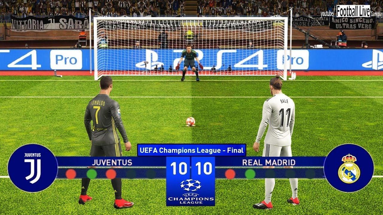 Pes 2019 Juventus Vs Real Madrid Final Uefa Champions League Ucl Penalty Shootout Youtube