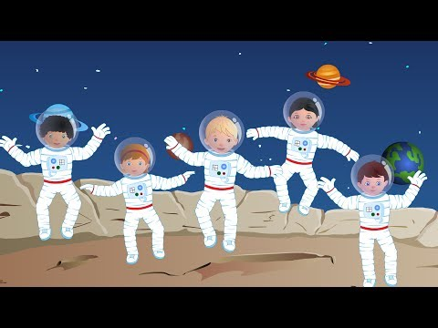 Five Little Astronauts   Phonics Letter- T song   Kids Tv Nursery Rhymes For Children