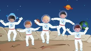 Five Little Astronauts | Phonics Letter- T song | Kids Tv Nursery Rhymes For Children