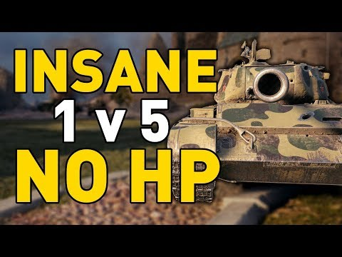 INSANE 1 V 5 With NO HP In World Of Tanks!