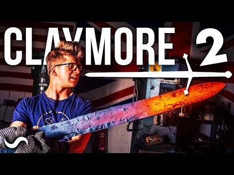 MAKING A SCOTTISH CLAYMORE SWORD!!! PART 2