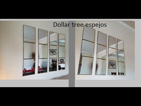 Diy espejos de dollar tree /mirrors from dollar tree