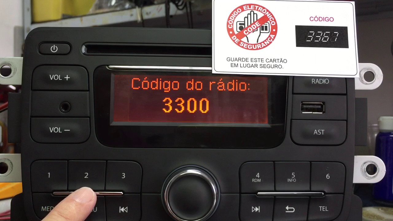 como digitar o c u00f3digo no r u00e1dio do renault sandero e duster