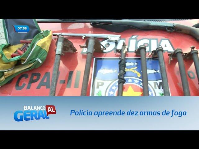 Polícia apreende dez armas de fogo no Benedito Bentes