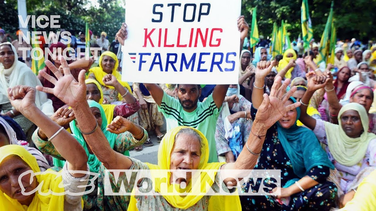 Image result for indian farmers protest m  youtube
