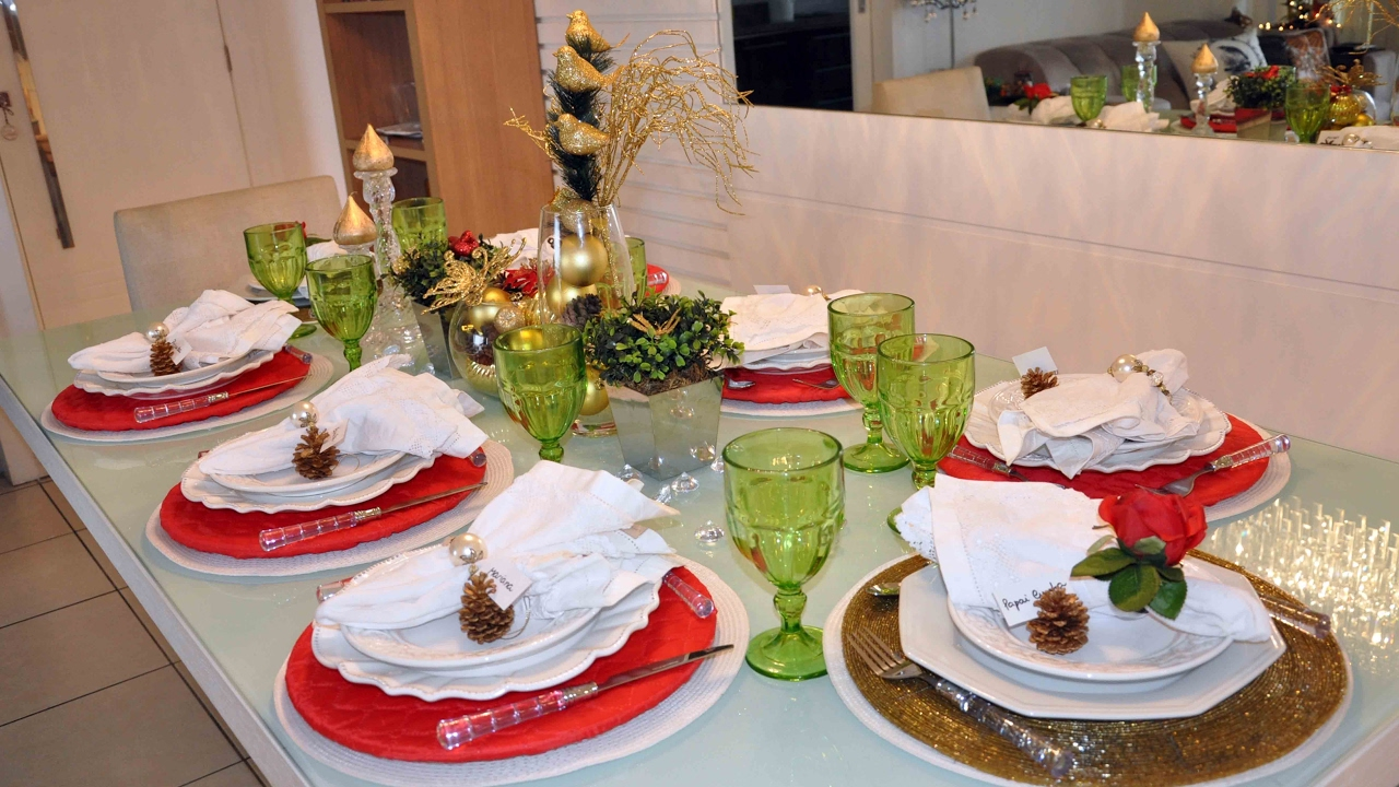 Vlog mesa posta de Natal e decoraç u00e3o da ceia YouTube -> Decoração Ceia De Natal Simples
