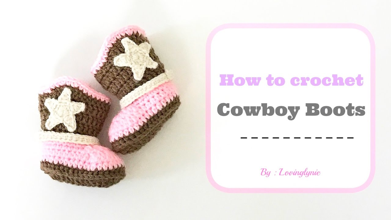 How to Crochet Cowboy/Cowgirl Boots (0-3 months) - YouTube