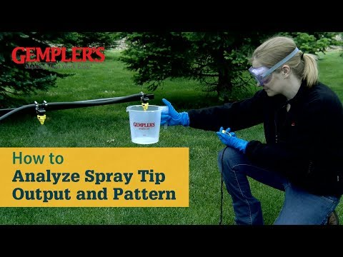 How to Test Boom Sprayer Tip Output and Pattern | Sprayer Tips from GEMPLER'S