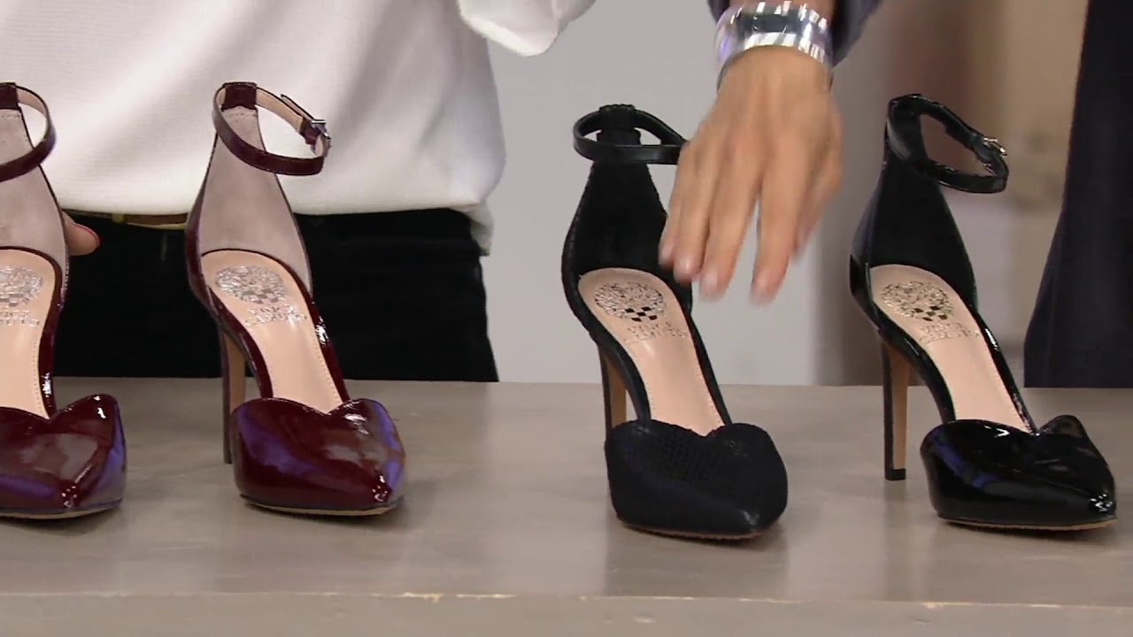 1a72a9bab02a Vince Camuto Pointy Toe Ankle Strap Pumps - Maveena on QVC - YouTube