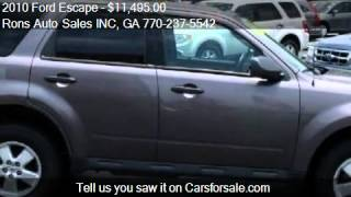 2010 Ford Escape XLT FWD - for sale in Lawrenceville, GA 300