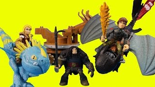 Dragons Toothless Hiccup Astrid & Stormfly Battle Armored Dragon & Drago War Machine
