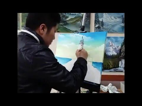 Easy painting with Mr.k oil acryil tutorial, how to paint