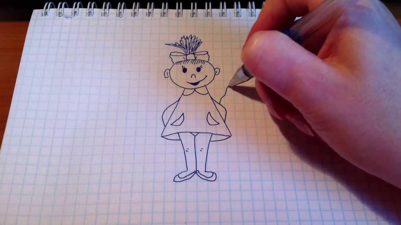 Рисунок «Цветок» для начинающих пошагово с фото. Как 70