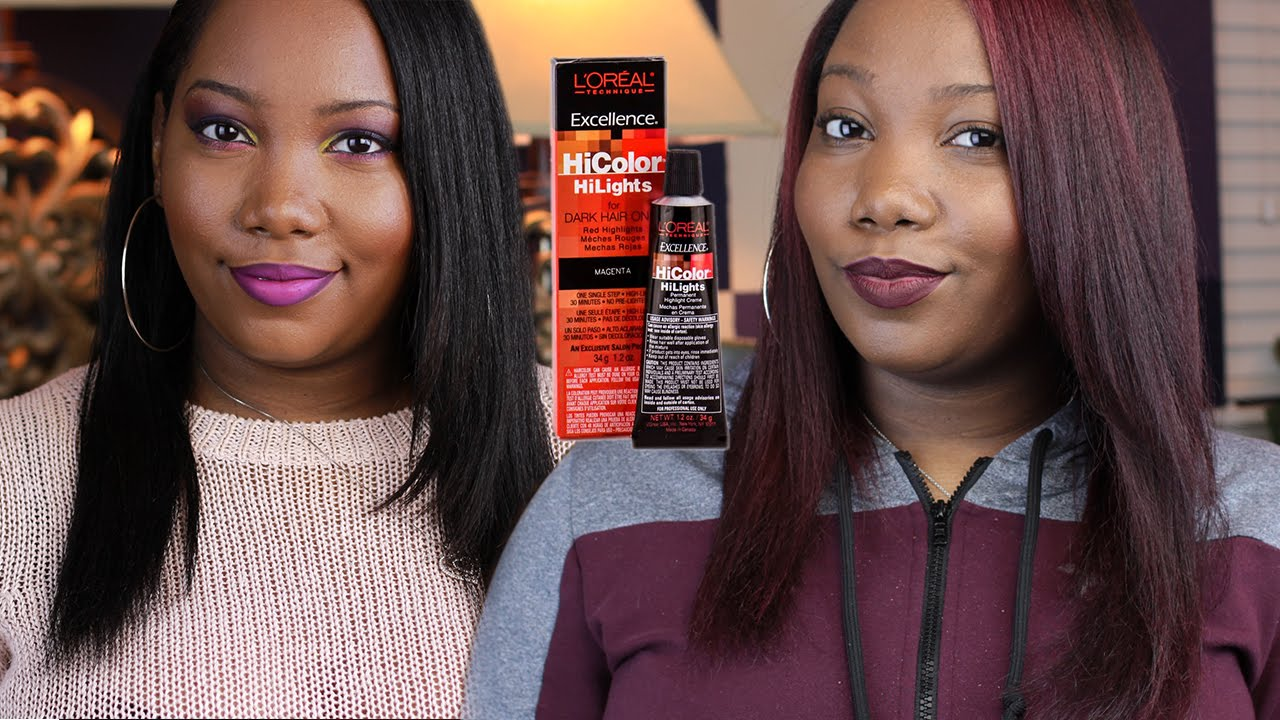 How to: Coloring My Texlaxed Hair (NO BLEACH) using Loreal HiColor ...