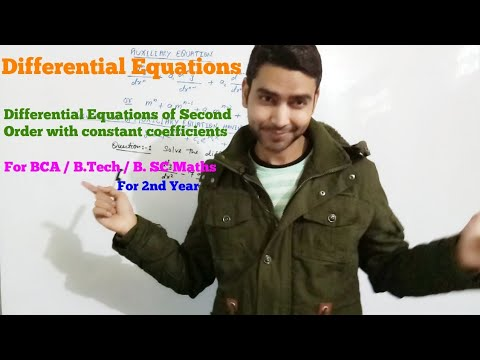 Differential Equations of Second Order with constant coefficients
