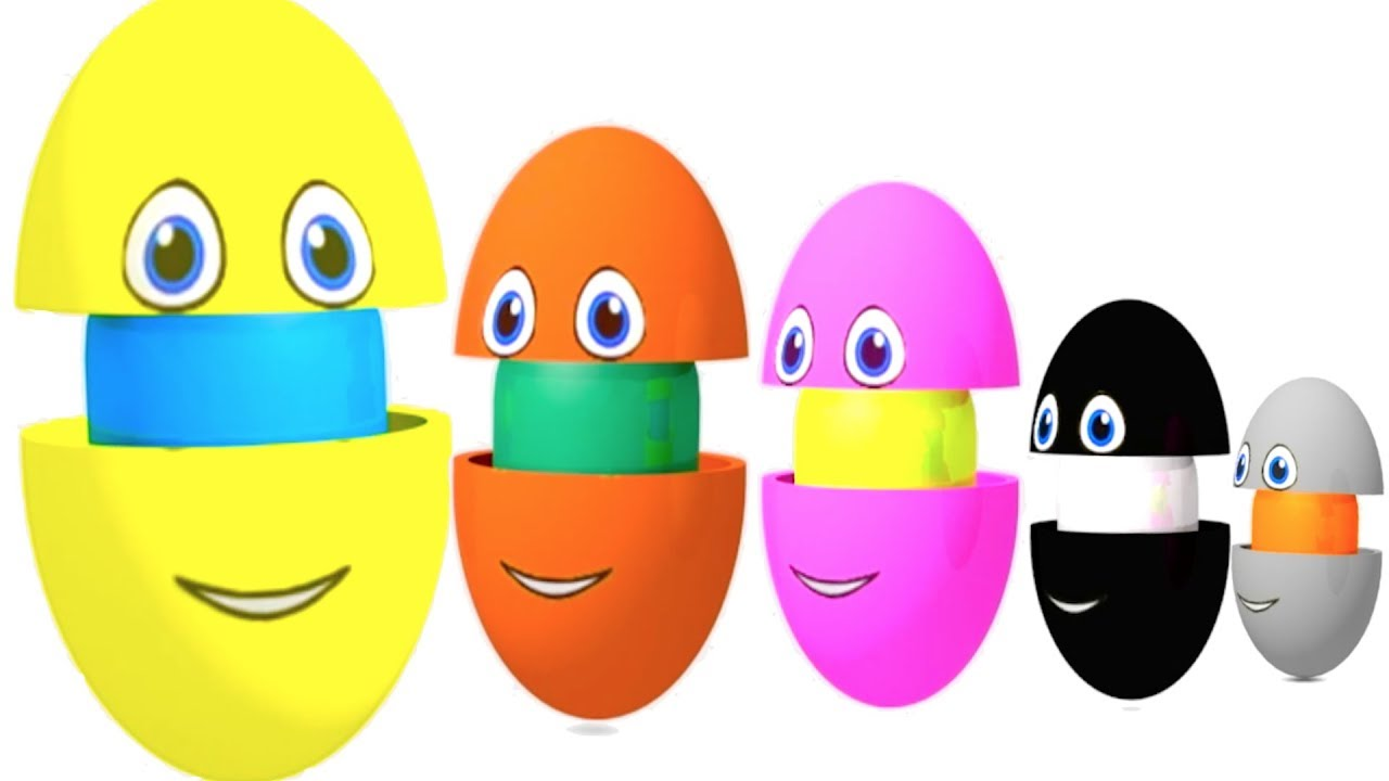 Learn Colors And Shapes In Surprise Eggs And Wooden Hammer