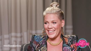 P!nk's Emotional Chat About Music, Life & Family I Ash London Live