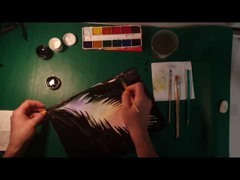 Учимся рисовать. (Часть - 2) перо жар птицы