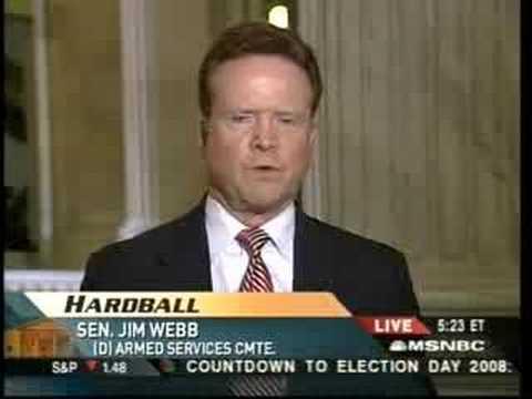 Jim Webb on Hardball: War Hawks in the Senate