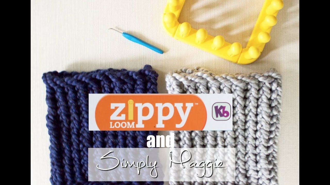 How To Loom Knit A Cowl In 30 Minutes Using Zippy Loom Simply