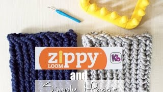 How to Loom Knit a Cowl in 30 Minutes Using Zippy Loom - Simply Maggie