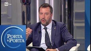 """Salvini: """"Decreto sicurezza 'bis', immigrazione è una minima parte"""" - Porta a Porta 22/05/2019"""