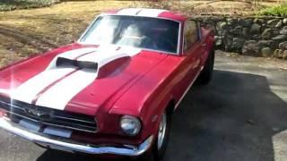 Rare 1965 Mustang Fastback Gasser Barn find start up walk around