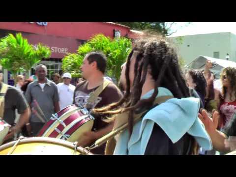 Conga Santiaguera at Calle Ocho Festival 2010 - Miami Florida