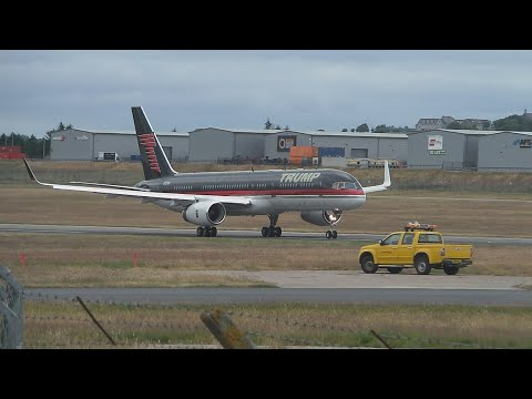 *RARE* Trumps Own 757-200 Take Off From Aberdeen Airport