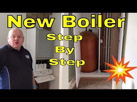 New Boiler Installation - Cylinder Removal - Step by Step - Leeds Plumber