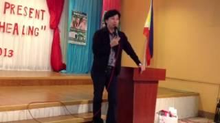 Dr Ron Unidad at Valencia City Bukidnon Pure Barley Product Training 1/8