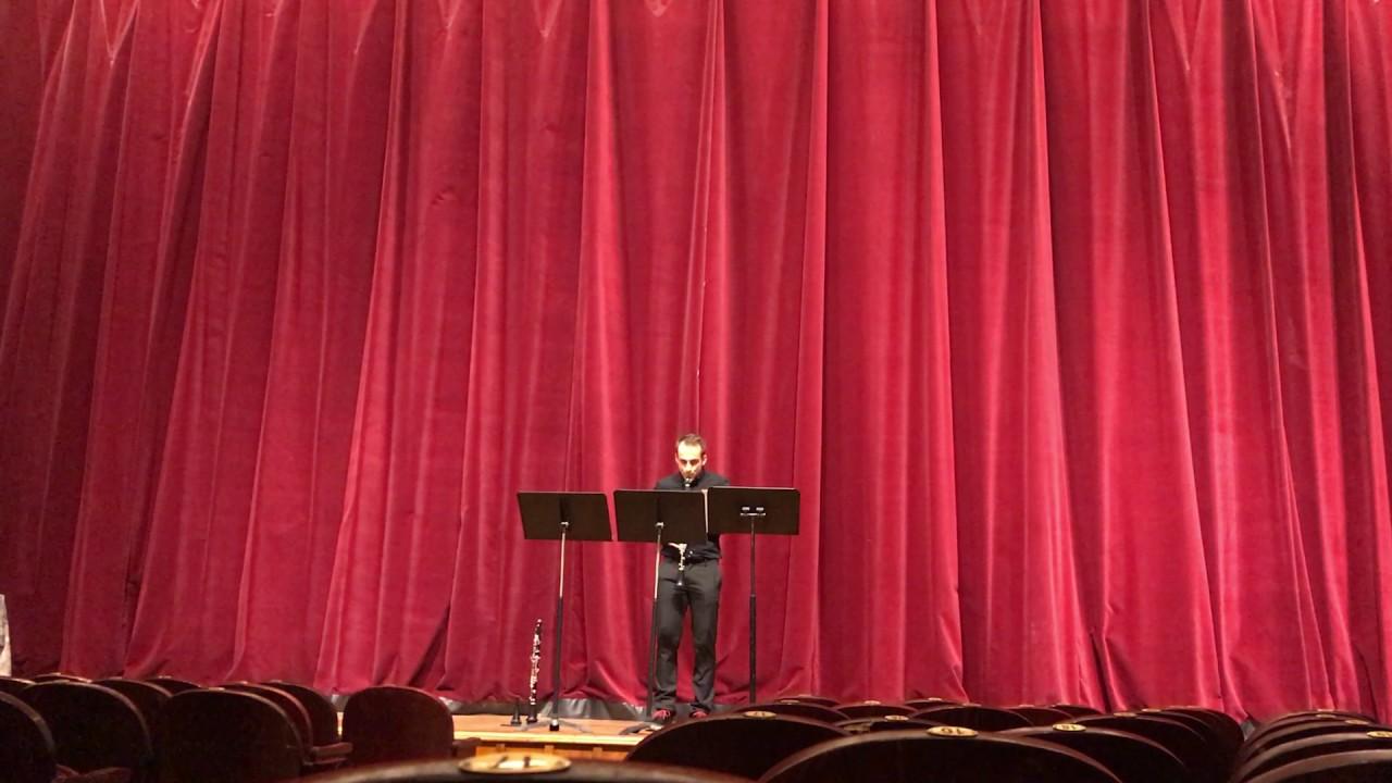 Jorg Widmann Fantasie For Clarinet Solo live