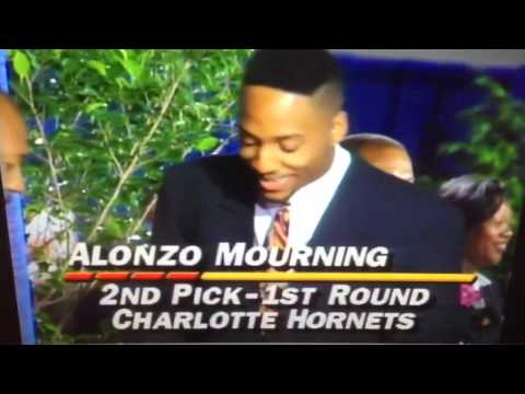 1992 NBA Draft - Alonzo Mourning - 2nd Pick