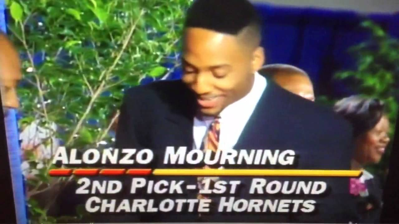 1992 NBA Draft Alonzo Mourning 2nd Pick